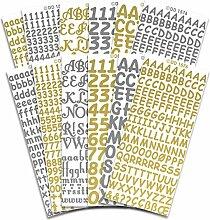 Peel Off Stickers Abziehen Aufkleber Buchstaben