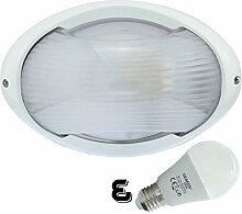 Peene- LED 12W - E27 - Aluminium -Alu wandstrahler