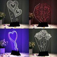Pegasus 3D LED batteriebetriebene Nachtlicht Micro USB Tischnachttischlampe Dekoration reizende Geschenk