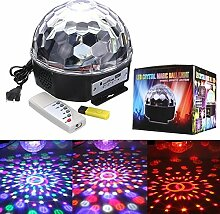 Pegasus 6W RGB LED MP3 Kristall Magic Ball Stadiums Effekt Licht Verein Partei Lampe