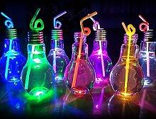 Pegasus Kreative 500ML Glühbirne Glühen Glasflasche für Getränke Anlage Blumenvase Home Decor