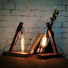 Pegasus Loft Retro Holz UK Stecker E27 Edison Lampe Cafe Home Bar Dekoration