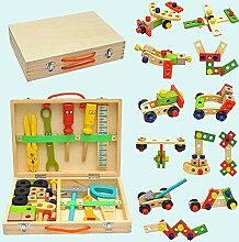 pegtopone Holz Werkzeugkoffer Für Kinder,