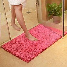 PEIWENIN-Bad Tür Matratze Bad Nippel Matte Schlafzimmer Wohnzimmer Wasser Saugfuß Pad Tür Matte, 80 * 120cm, Rose ro