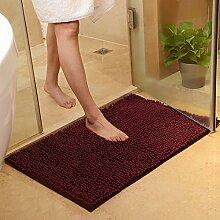PEIWENIN-Bad Tür Matratze Bad Nippel Matte Schlafzimmer Wohnzimmer Wasser Saugfuß Pad Tür Matte, 60 * 90cm, lila