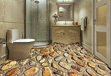 PEIWENIN-Badezimmer 3D Kleine Stein Teppich Tür Pad Badezimmer Küche Anti-Rutsch Pad Schlafzimmer Couchtisch Teppich, 60 * 90cm, braun