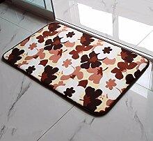 PEIWENIN-Badezimmer Badezimmer saugfähige Küche rutschfeste Matten Türmatten Schlafzimmer Eingang Matten Haus Tür Matten, 80 * 160CM, Kirschblüten