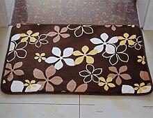 PEIWENIN-Badezimmer Badezimmer saugfähige Küche rutschfeste Matten Türmatten Schlafzimmer Türmatten Haus Tür Matten, 120 * 160CM, Herbst Blätter