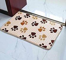 PEIWENIN-Badezimmer Badezimmer saugfähige Küche rutschfeste Matten Türmatten Schlafzimmer Türmatten Haus Tür Matten, 50 * 80CM, kleine Abdrücke