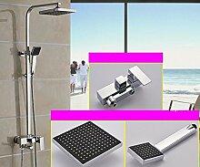PEIWENIN-Badezimmer Duschset Kupfer Druckmischventil Dusche Badezimmer Dusche Düsenset, B