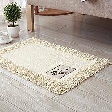 PEIWENIN-Badezimmer Matratzen Wohnzimmer Schlafzimmer saugfähige Matten Kissen Küchenmatten, 50 * 80cm, Beige