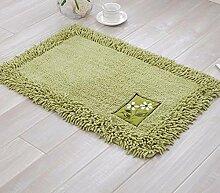 PEIWENIN-Badezimmer Matratzen Wohnzimmer Schlafzimmer saugfähige Matten Kissen Küchenmatten, 45 * 70cm, grün
