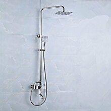 PEIWENIN-Badezimmer mit Dusche-Set Badezimmer mit Edelstahl-Dusche Badezimmer mit überdachter Duschkopf