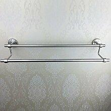 PEIWENIN-Badezimmer Toilette Edelstahl Handtuch Double Bar High und Low Double Bar Bad Handtuch Bar Handtuch Rack Badezimmer Badezimmer Anhänger, 60CM