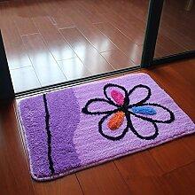 PEIWENIN-Badezimmer Wasserdichte Slip Pad Tür Pad Küche Toiletten Toilettenpapier Matten Haushalt Matten, 40 * 60cm, Apple Blume