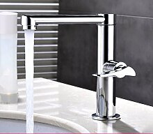 PEIWENIN-Badezimmer WC Voller Kupfer Rotary Bassin Wasserhahn Single Kalt Wasserhahn Badezimmer Badezimmer Zähler Waschbecken Waschbecken Hohe Wasserhahn, gewöhnlich