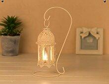 PEIWENIN-Europäische klassische Kerzenständer hohle geschnitzte Leuchter Heimtextilien Kerzenlicht Abendessen Requisiten, schwarz