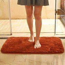 PEIWENIN-Plain Badezimmer Wasserdicht Anti-Rutsch-Fuß-Pad Schlafzimmer Tür Paddel Wohnzimmer Tür Tür Pole Wohnzimmer Boden Matte, 50 * 60cm, eine Show Ro