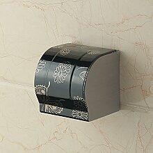 PEIWENIN-WC-Papier Box Edelstahl WC-Papier Handtuch Box WC Toilettenpapier Box Toilettenpapier box wasserfestem Papier Handtuch Regal frei Bohren, E, 12,5 cm