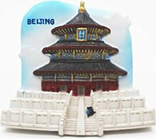 Peking Himmelstempel China Asian 3D Resin TOY Fridge Magnet Schiff frei