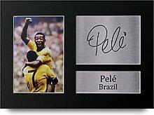Pele Signiert A4gedrucktem Autogramm Brasilien