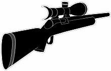 Peleg Design PE268 Aufkleber für Türspion Eye Spy, Gewehr-Motiv, 23 x 18 cm
