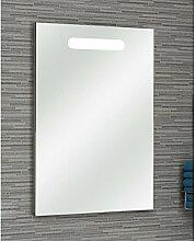 PELIPAL 359 Piolo Spiegel mit LED Holzdekor Weiß