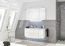 PELIPAL Cassca 3 tlg. Badmöbel Set / Waschtisch / Unterschrank / Spiegelschrank / Comfort N