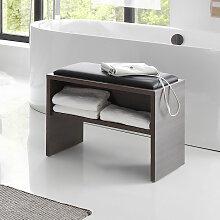 Pelipal Neutrale Einzelmöbel Sitzbank - Hocker 60 cm, mit Ablage und Sitzkissen- B: 600 H: 480 T: 400