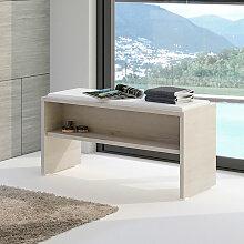 Pelipal Neutrale Einzelmöbel Sitzbank - Hocker 90 cm, mit Ablage und Sitzkissen- B: 900 H: 480 T: 400