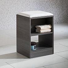 Pelipal Neutrale Einzelmöbel Sitzbank - Hocker - Rollhocker - 35 cm, mit Ablage und Sitzkissen- B: 352 H: 480 T: 330