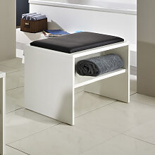 Pelipal Solitaire 6020 Sitzbank - Hocker 60 cm, mit Ablage und Sitzkissen in schwarz oder weiß- B: 600 H: 480 T: 400