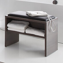 Pelipal Solitaire 6025 Sitzbank - Hocker mit Ablage und Sitzkissen in Weiß oder Schwarz- B: 900 H: 480 T: 400