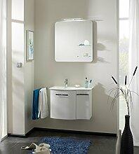 PELIPAL SOLITAIRE 6900 3 tlg. Badmöbel Set / Waschtisch / Unterschrank / Flächenspiegel mit Glasabla