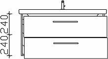 Pelipal Solitaire 9005 Waschtisch mit Unterschrank 100 cm