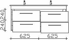 Pelipal Solitaire 9005 Waschtisch mit Unterschrank 130 cm