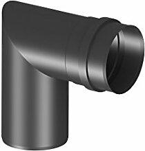 Pelletrohr Kniewinkel mit 90°, Ø 80mm, Edelstahl