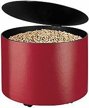 Pelletsbehälter SCHÖSSMETALL MAMBO Leder rot mit Deckel
