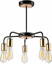 Pendel-Leuchte Decken-Leuchte aus Metall E27 Hänge-Leuchte (Farbe: Schwarz) Vintage Industrieleuchte Wohnzimmerlampe Modern Wohnzimmer Vintagelampe für Wohnzimmer / Küche / Büro / Praxis