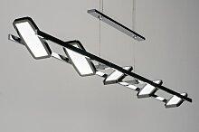 Pendelleuchte Design Modern Metall Chrom Laenglich