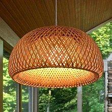 Pendelleuchte E27 Rattan-Lampe Landhausstil