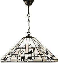 Pendelleuchte - Glas im Tiffany-Stil und dunkle