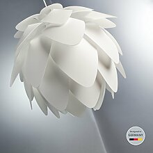 Pendelleuchte I Deko-Lampe I Couchtisch-Lampe I Decken-Leuchte I Hängelampe I moderne Wohnzimmer-Lampe I Weiß aus Kunststoff I Puzzle-Lampe I Esstisch-Lampe I Decken-Lampe I Kinderzimmer-Leuchte I Design I I E27 I IP20