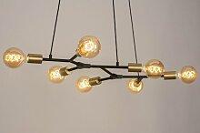 Pendelleuchte Modern Art Deco Metall Schwarz Matt