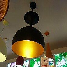 Pendelleuchte Weinglas Form Aluminium Lampenschirm E27 Hängeleuchte Moderne Beleuchtung Decke Pendelleuchten, D33cm, Schwarz