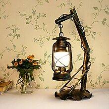 Pendelleuchten Eisen Lampe, Retro Tischlampe Wohnzimmer Schlafzimmer Studie Tischlampe