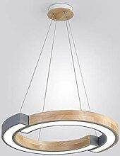 Pendelleuchten grau LED Kronleuchter Holzfarbe