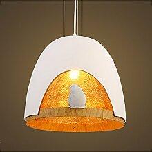 Pendelleuchten Schlafzimmer Kronleuchter Kreative Kaffee Restaurant Einfache Bar Birdie Harz Leuchten ( Farbe : Weiß )