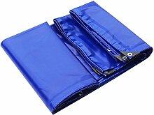 PENGFEI Blau Plane Gewebeplane Brandschutz Carport Schattierung Windschutzscheibe Weich Hitzebeständig, Dicke 0.6MM, -650 G / M², 6 Größe ( Farbe : Blau , größe : 3x4M )