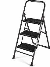 PENGFEI Faltbare Stufenleiter Trittleiter Stuhl